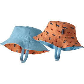 Patagonia Sun Bucket Hat Niños, tamar tiger/peach sherbet